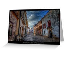 Krakow Streets in Colors - HDR Greeting Card