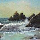 Impressionist Beach Study #4 by bryanhibleart