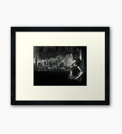 SIN-Cityscape | Self Portrait Framed Print