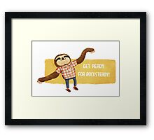 Rocksteady Sloth Framed Print