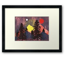 Lost in the Color... Framed Print