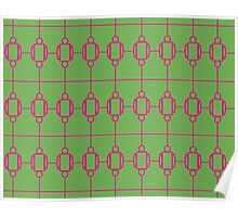 Pink & Army Green Chain Poster