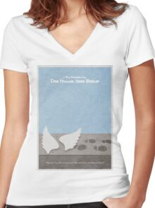 Der Himmel uber Berlin  Wings of Desire Women's Fitted V-Neck T-Shirt