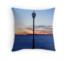 Early Spring Sunset -- Lake Cadillac Throw Pillow