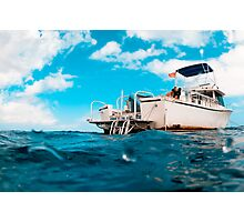 Crossed processed dive boat Photographic Print