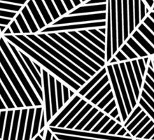 Abstract Mountain Black Sticker