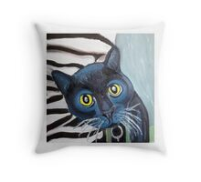 Tux the Shelter Cat Throw Pillow