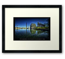 A new look to the WWII Memorial, Washington DC Framed Print