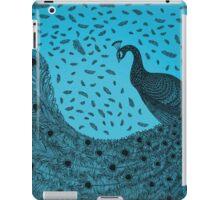 Blue Peacock ink illustration iPad Case/Skin