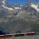 Gornergrat Train Zermatt Switzerland by Monica Engeler