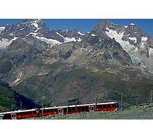 Gornergrat Train Zermatt Switzerland Photographic Print