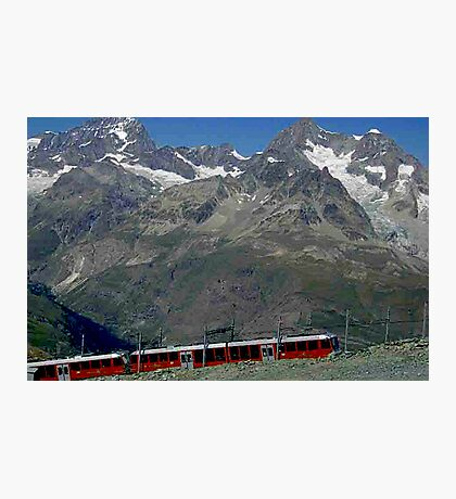 Gornergrat Train Zermatt Switzerland Photographic Print