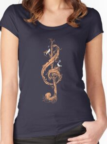 Natural Melody Women's Fitted Scoop T-Shirt