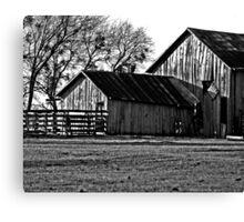 Old Barns (B&W) Canvas Print