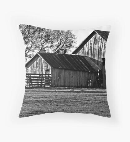 Old Barns (B&W) Throw Pillow