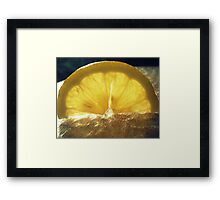 Lemon Light - Macro Shot Framed Print