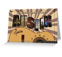 Greetings from Austin, Texas Greeting Card