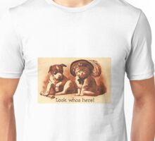 PUPPY PITTIE AND FLUFFY KITTY Unisex T-Shirt