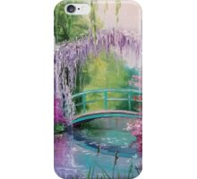 in the garden of Monet iPhone Case/Skin
