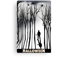 Halloween in the Frorest Canvas Print