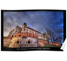 Sunrise at Wawel Castle - Krakow Poster