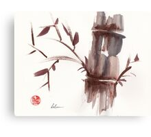 'Listen'  original ink wash sumi-e bamboo painting Canvas Print