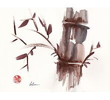 'Listen'  original ink wash sumi-e bamboo painting Photographic Print