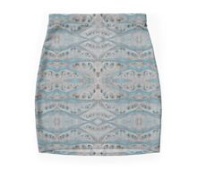 Blue Broccoli Bark  Mini Skirt