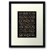 The Journey from Hobbiton to Mordor Framed Print