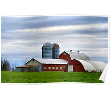 Red Barns Of 3 Poster