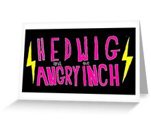 Hedwig and the Angry Inch (Pink Logo/Lightning Bolts) Greeting Card