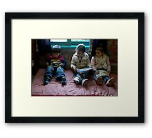 SHOW ME PLEASE, SISTER Framed Print