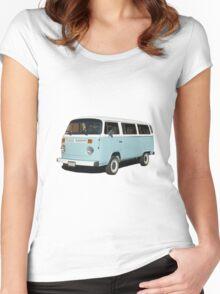vintage blue van Women's Fitted Scoop T-Shirt