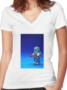 Robbie the Robot Women's Fitted V-Neck T-Shirt