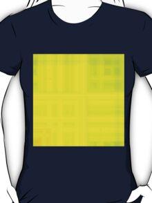 Green-Yellow-Mustard Plaid T-Shirt