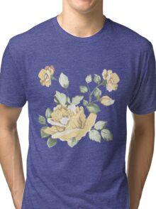 Vintage watercolor yellow flower Tri-blend T-Shirt