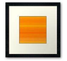 Carrot Orange Stripes Framed Print