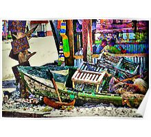 The Crab Shack Boat Poster