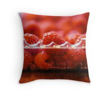Fresh Raspberries Throw Pillow