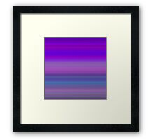 Evening Sky Stripes Framed Print
