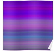 Evening Sky Stripes Poster