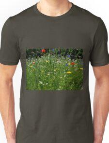 Stunning Wild Flowers at Exeter Gardens,Devon.UK Unisex T-Shirt