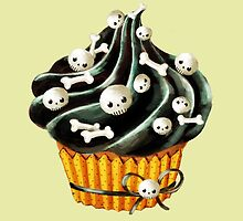 Black Halloween Cupcake by colonelle