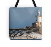 Blyth North Pier LIghthouse, Northumberland Tote Bag