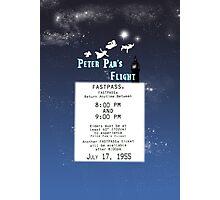 Peter Pan's Flight- Fastpass Photographic Print