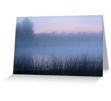 Foggy U.P. Michigan Dawn Greeting Card