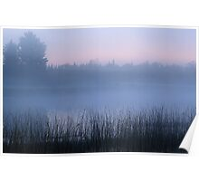 Foggy U.P. Michigan Dawn Poster