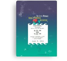 Ariel's Undersea Adventure- Fastpass Canvas Print
