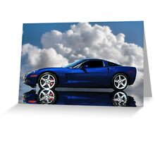 Corvette C6 Profile Greeting Card