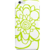 Wood Block Print Flower Number Two iPhone Case/Skin